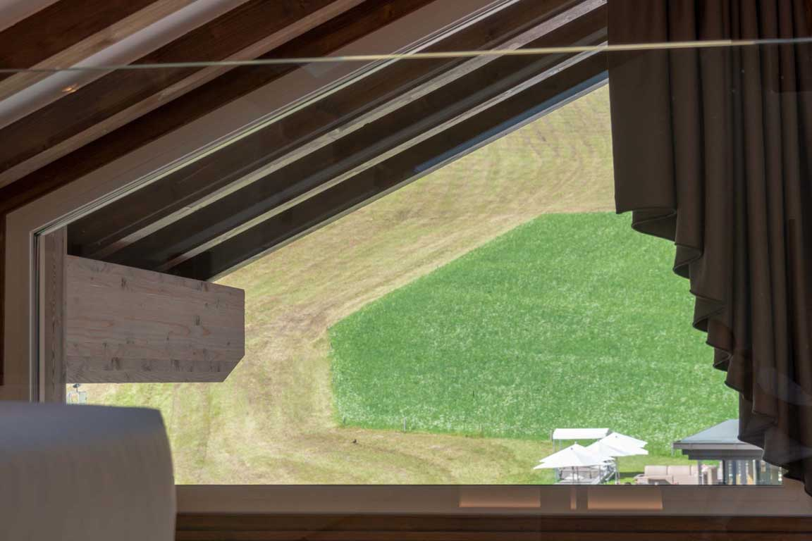 View from the loft to the meadow