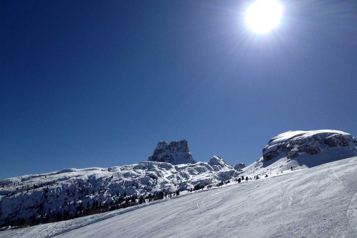 Ski Tour of the I World War 1915/18: Cinque Torri near Cortina d'Ampezzo
