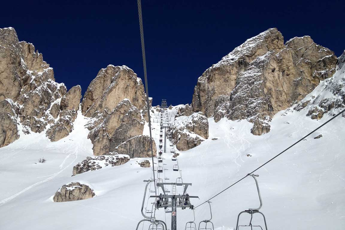 Ski Tour of the I World War 1915/18: Croda Negra near Nuvolao