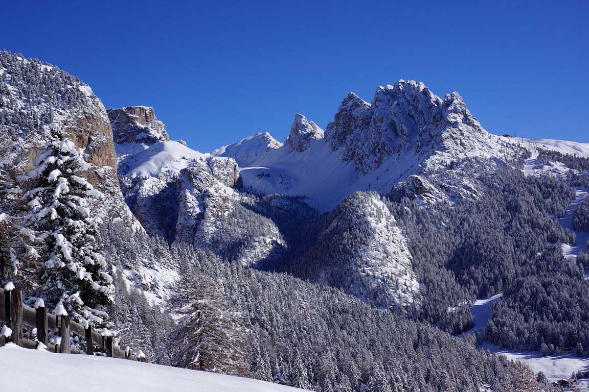 Chedul valley and Pizes de Cir in winter
