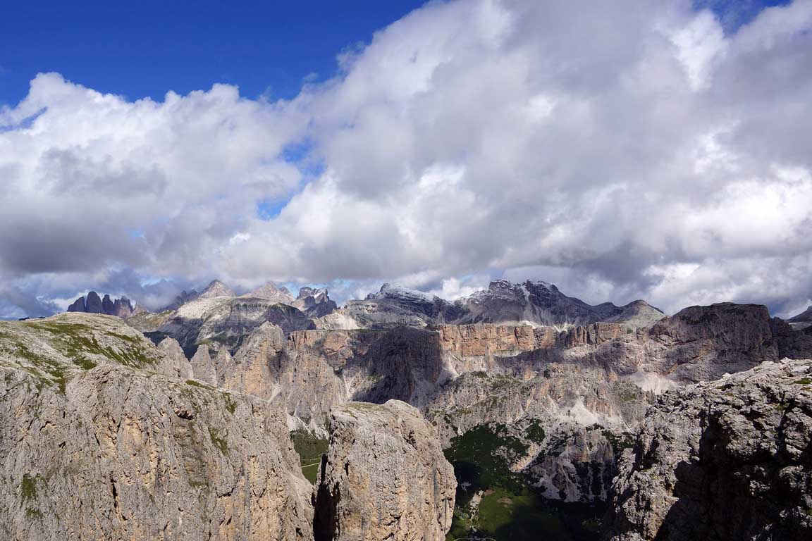 View from the Sella group, Dolomites