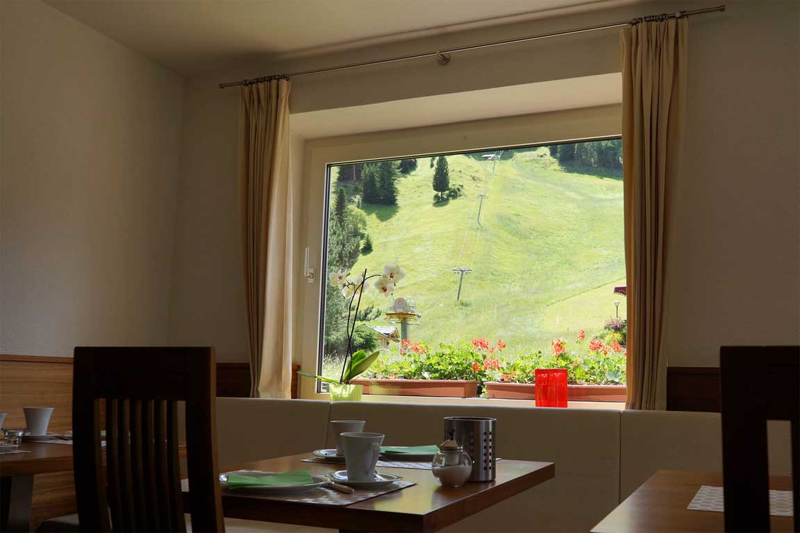 View from the breakfast room towards the wild flower meadow