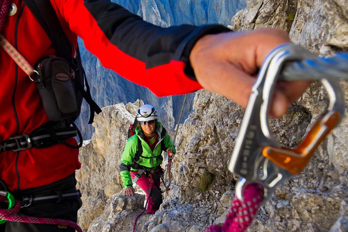 Via Ferrata in the Dolomites, Italy