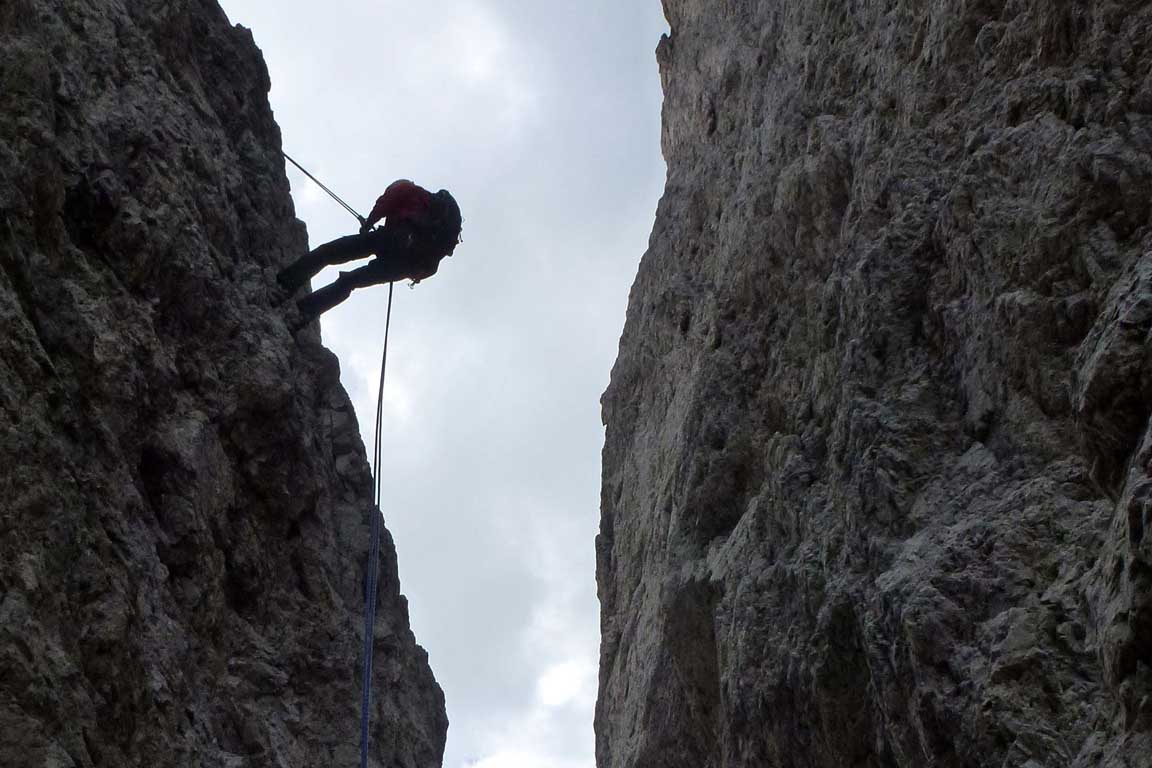 Climber in the Dolomites