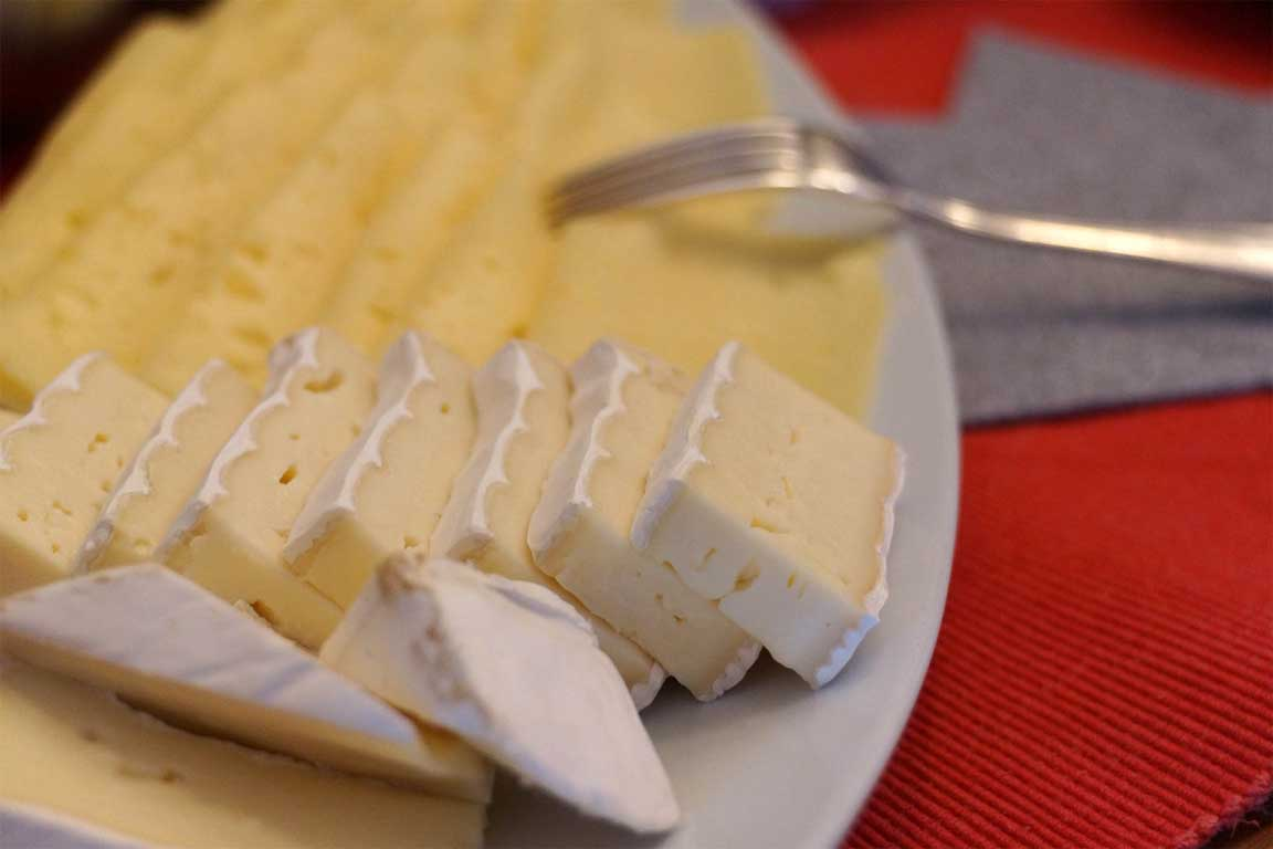 Cheese platter with brie