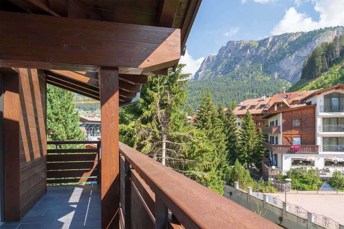 View from the balcony to the mountain Stevia