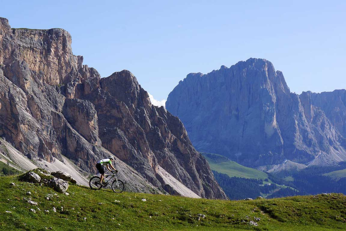 Mountain bike Route in Val Gardena