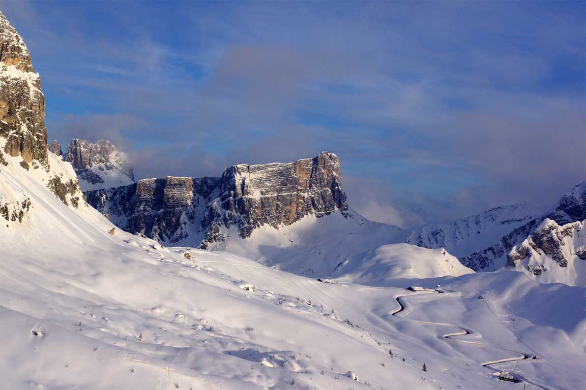 Passo Giau in de winter