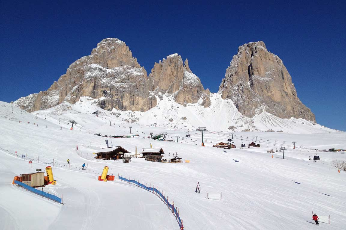 Passo Sella in winter