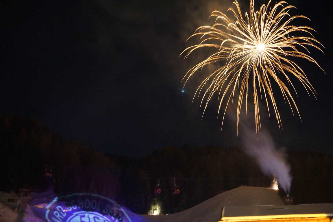 New Year fireworks in Selva Val Gardena