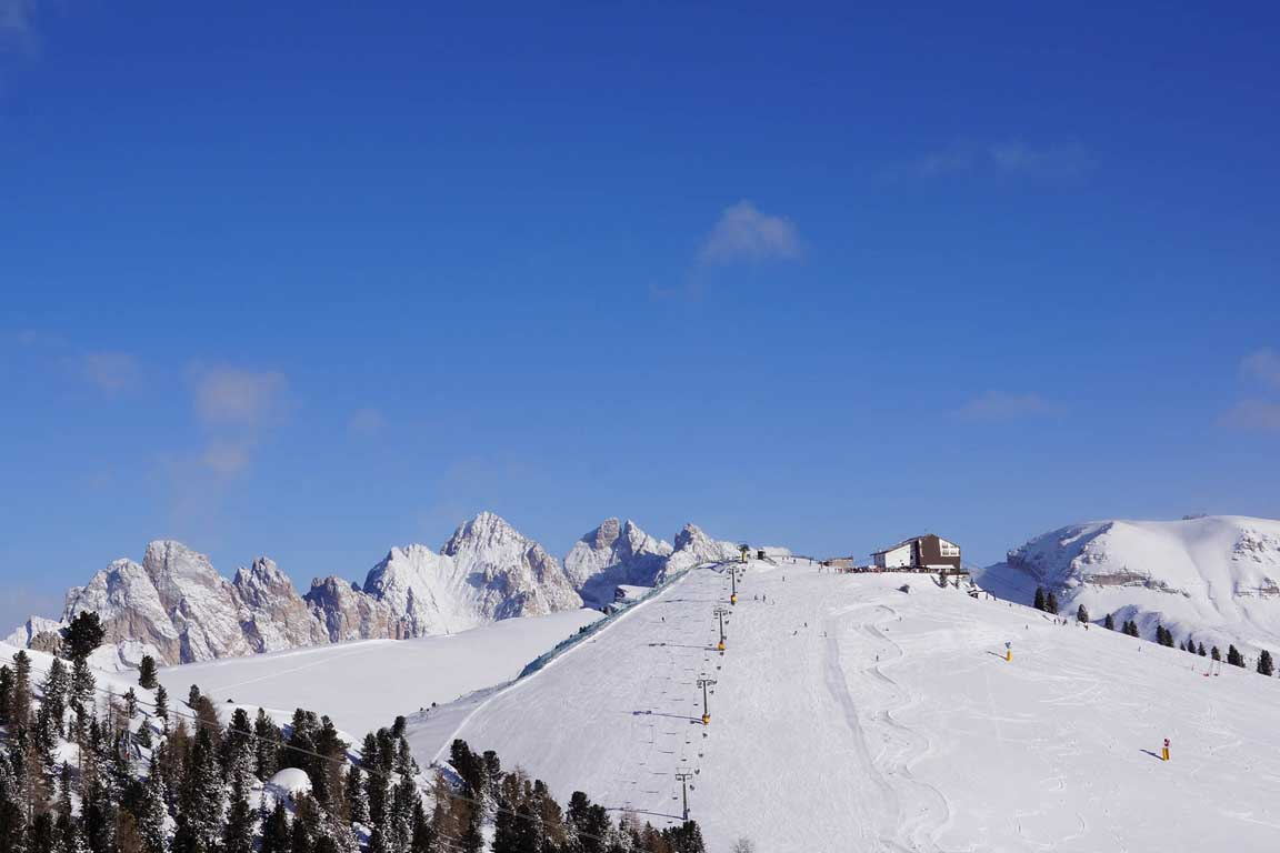 Piz Sella in winter