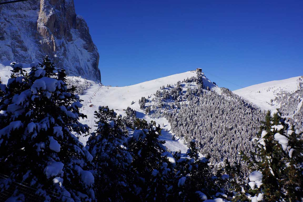 Piz Sella im Winter