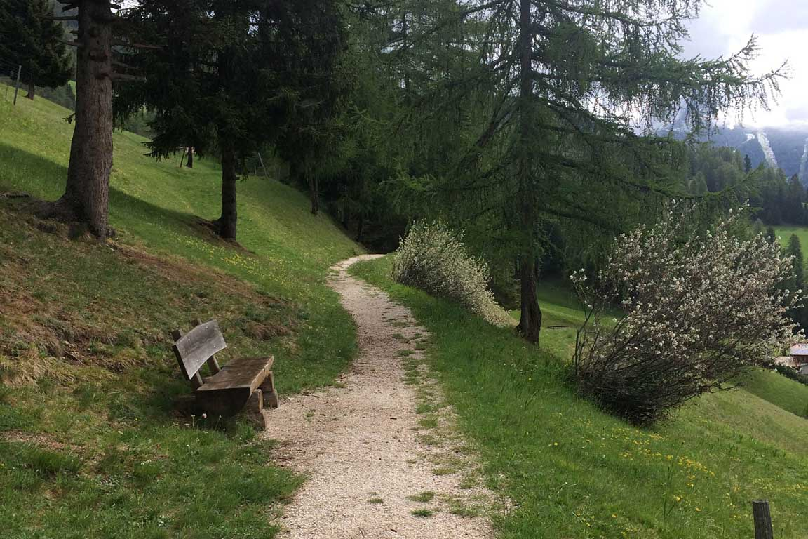 Walking in Val Gardena in spring