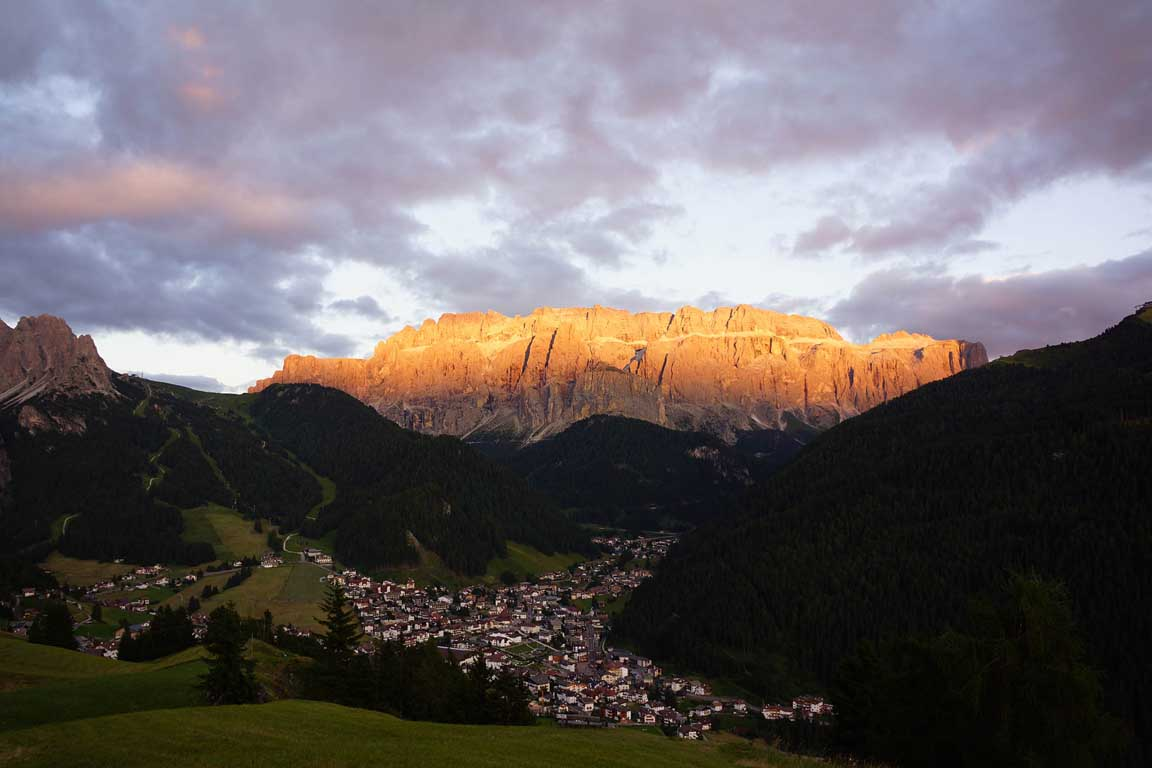 Alpenglow Sella Group Dolomites