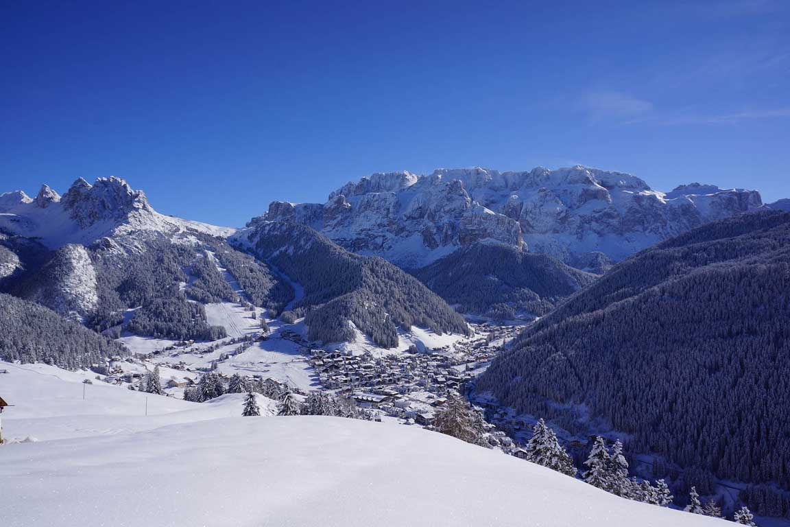 Selva Val Gardena/Wolkenstein in winter