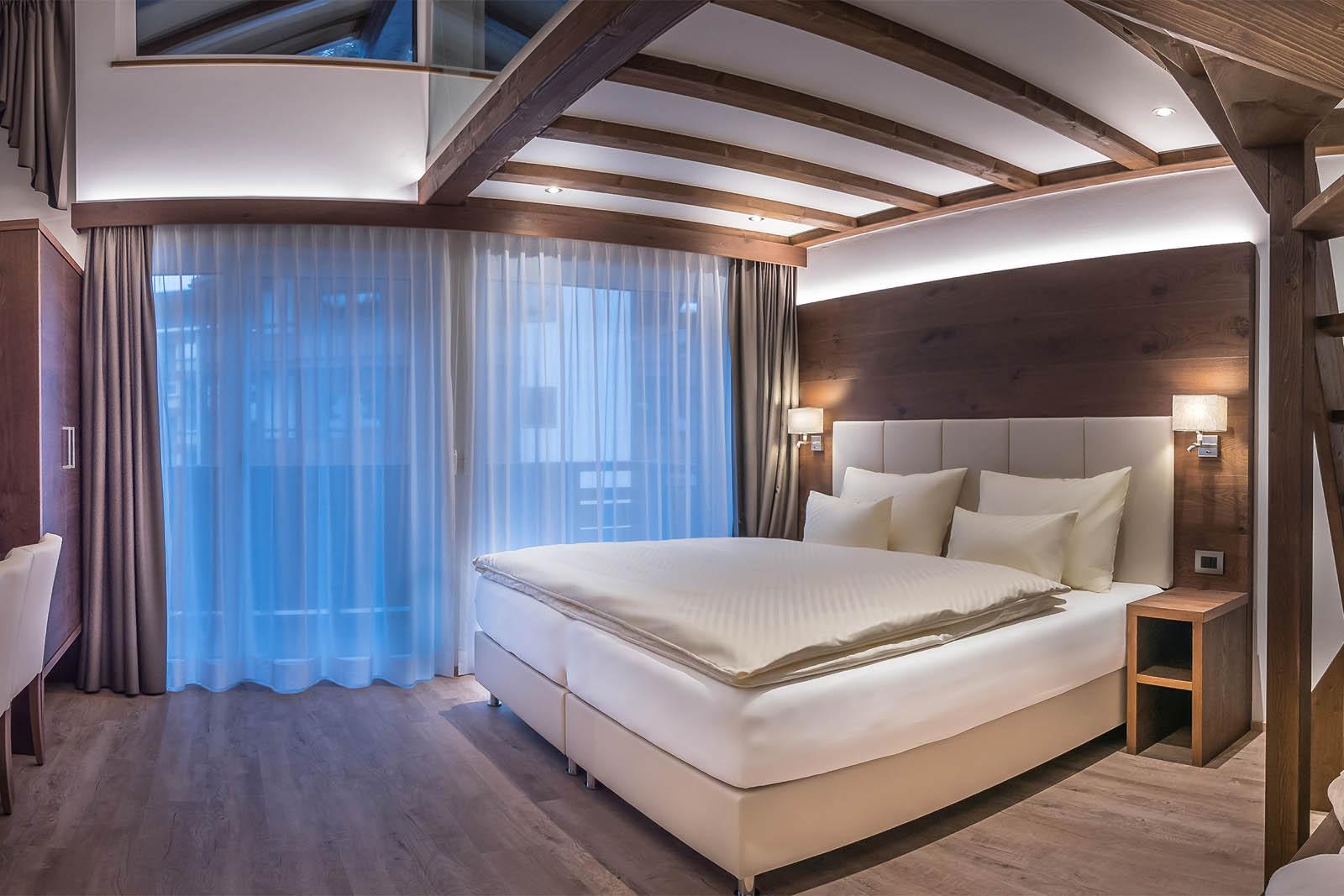 Junior suite romantic loft op de skipistes van selva