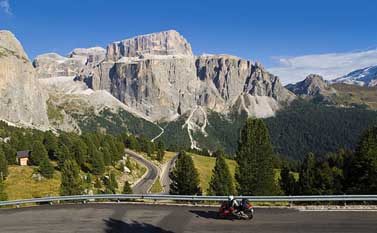 Motorbike  & Motorcycle holidays in the Dolomites