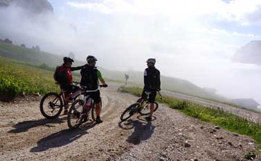 Mountain bike route on the Seceda