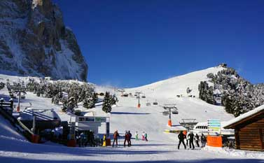 Ski slopes in Val Gardena
